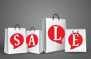 Design di vendita con borse della spesa