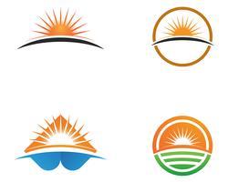 Logotipo genérico y símbolos del sol.