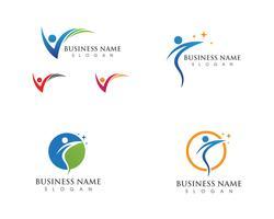 Gezondheid leven logo en symbolen sjabloon pictogram vector