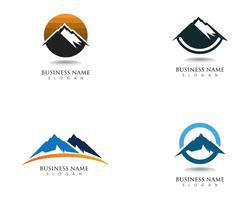 Mountain Logo et symboles Business Template vecteur
