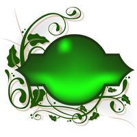 Banner Floral verde emoldurado em videiras