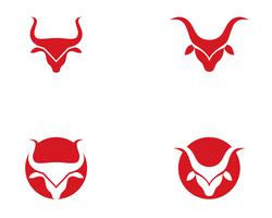 Bull Taurus Logo Mall vektor ikon illustration,