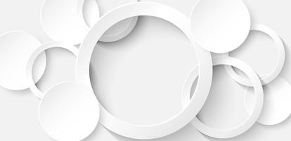 Abstract. Circle white background ,light and shadow.Vector.