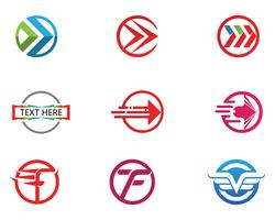 Faster Logo Template vector icon illustration design