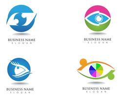 Eyes care health logo and symbols  vector