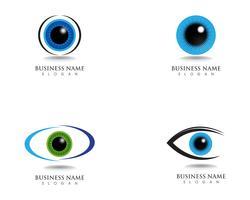 Eye care logo health symbols vector