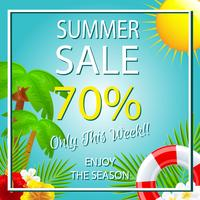 summer sale template tropical theme