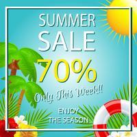 Sommerschlussverkauf Vorlage tropischen Thema