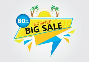 Discount big sale summer banner