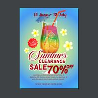 sale poster template with summer drink
