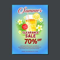 sale poster template with orange juice