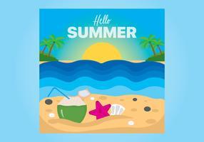 Bonjour fond d'été avec vue sur la plage