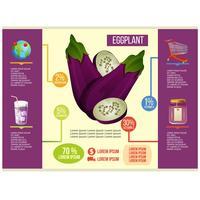 vettore di infografica di melanzane