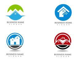 Eenvoudig huis logo sjabloon