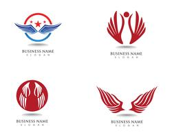 Eagle wing falcon logo and symbols template vector