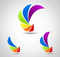 Set logo business . colorful shutter vector