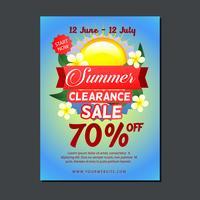 modelo de cartaz de venda com sol