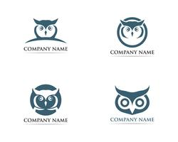Owl logo vogel vector illustrator