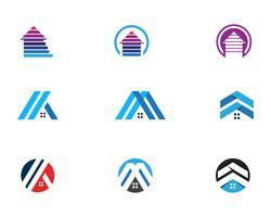 huis logo en symbolen pictogrammen sjabloon