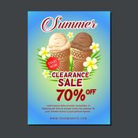 modelo de cartaz de venda com sorvete