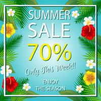 zomer verkoopsjabloon