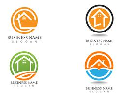 Simple Home Logo Template  vector
