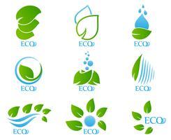 Set di icone di ecologia