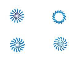 Plantilla de logo y símbolos vórtice