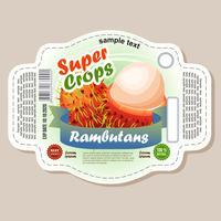 etiqueta de rambutans