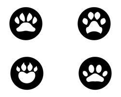 Logo e simboli dell'animale domestico dell'animale domestico del cane della stampa del piede