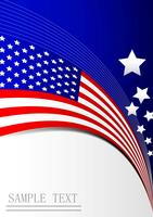 Självständighetsdagen för amerikanska flaggan, visitkort