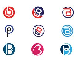 B Letter Icon Design Vector Illustration.