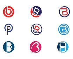 Ilustração do vetor do projeto do ícone da letra de B.