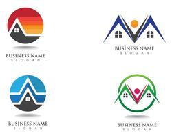 gebouwen logo en symbolen pictogrammen sjabloon