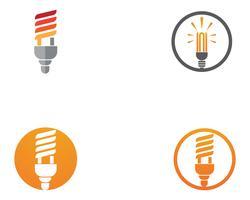 modello di ilustration di vettore di logo della lampadina