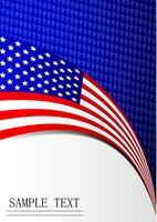 Quatrième fête de l'indépendance de l'amérique fond drapeau carte papier