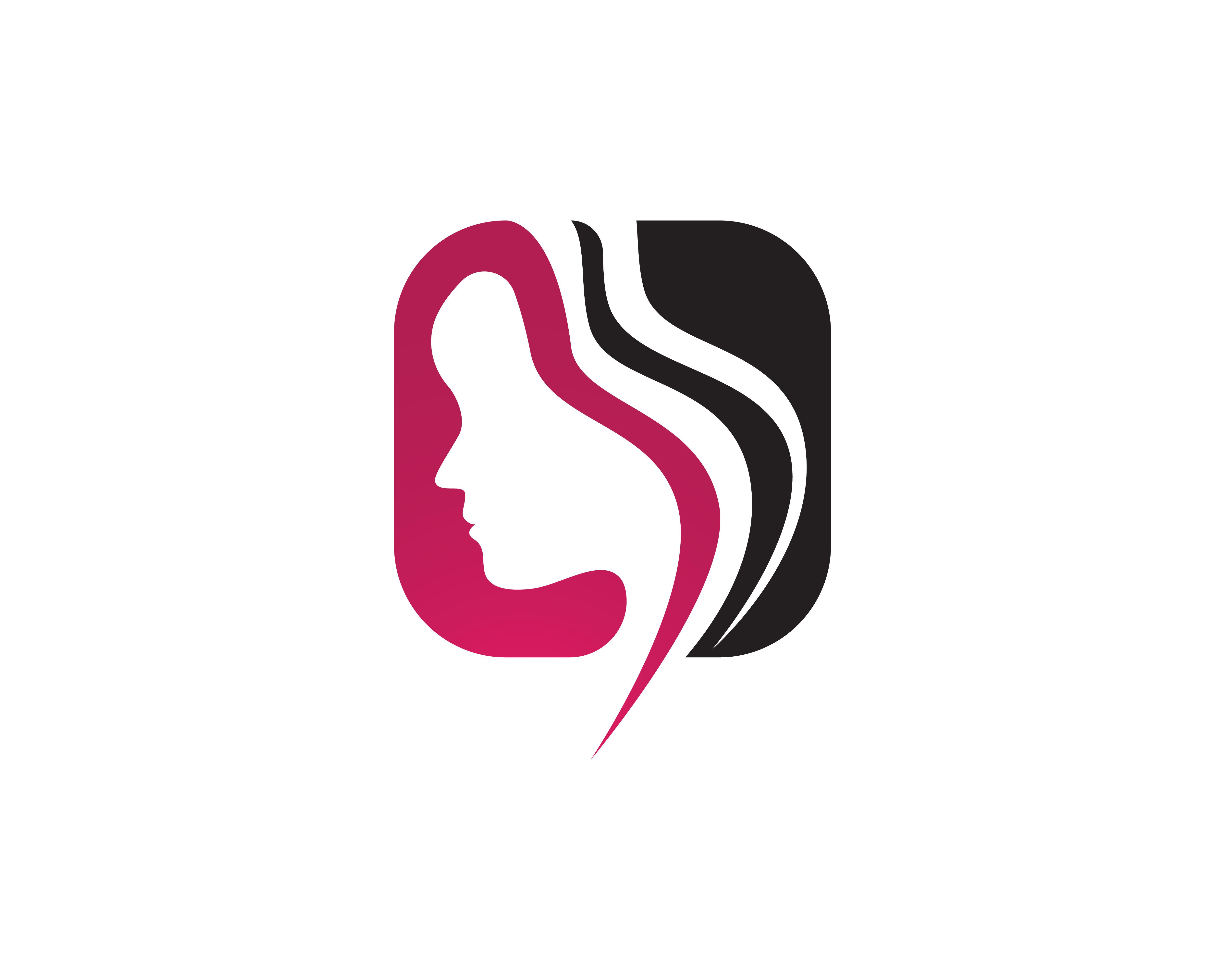 Beauty Face Hair Logo Women Download Free Vectors Clipart Graphics Vector Art