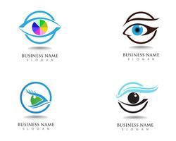Ögonvård hälsa logotyp och symboler