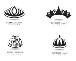 Kroon logo sjabloon vectorillustraties