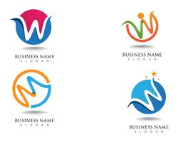 W logo business logo and symbols