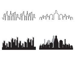 Moderne Skyline der Stadt. Stadtsilhouette. Vektor-Illustration in Wohnung