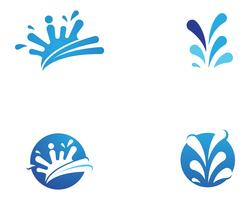 Splash water logo en symbool vector