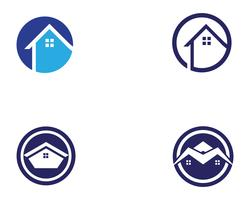 Haus Gebäude Logo Symbole Symbole Vorlage