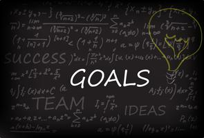 Goals On Chalk Board vector