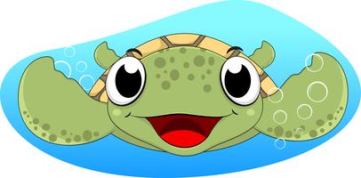 Desenhos animados bonitos da tartaruga de mar