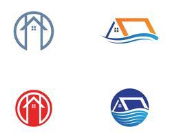 modèle d'icônes maison bâtiments logo symboles