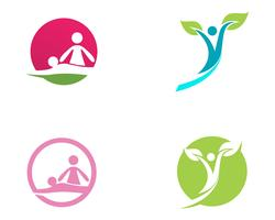 people Healthy Life Logo template vector icon