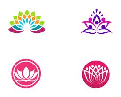 Lotus flower logo and symbols vector template