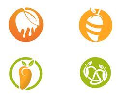 Mango en estilo plano mango logo mango icono vector de imagen