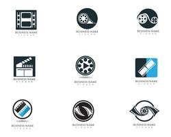 Film logo en symbolen vector sjabloon